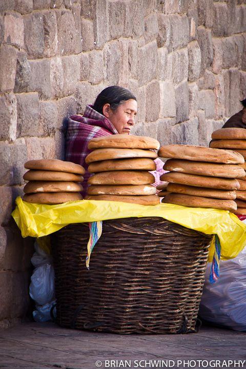 Bread Vendor, Cusco, Peru