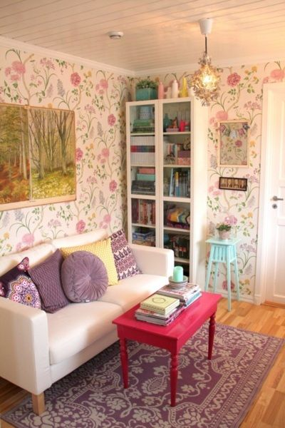 Cute Idea For A Small Living Space ♥ The Wallpaper