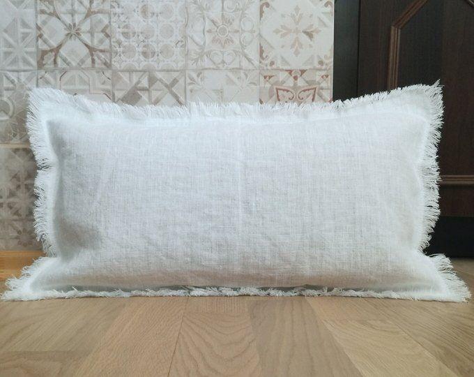 Ethnic Cream White Decorative Throw pillow 14x36 Neutral pillow Long Pillow Bolster Pillow Hmong Pillow Extra Long Lumbar Pillow