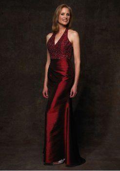taffetas sexy col V avec une mère vin en ligne jupe rouge de la robe de mariée