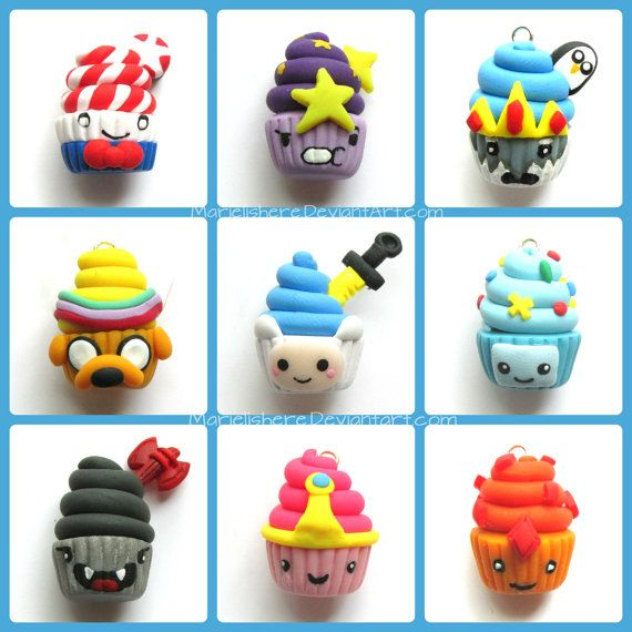 Adventure Time Charms. Adventure Time Cupcakes. Finn and Jake Charms. Choose your Favorite Adventure Time Character. Collect them all.