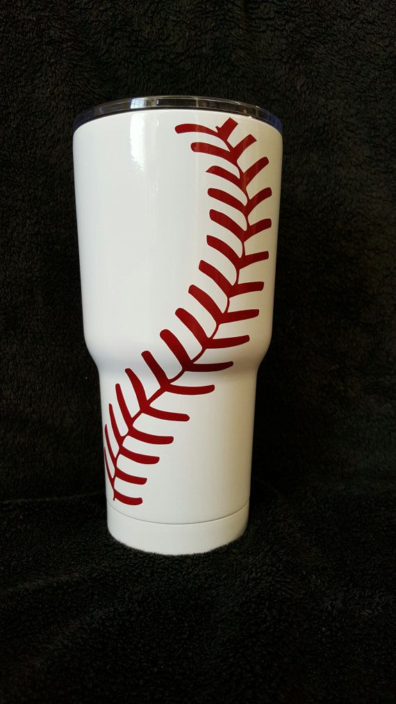 I can add Baseball Mom, Dad, Players name and # or whatever else you would like. If you would like a different color than red vinyl please