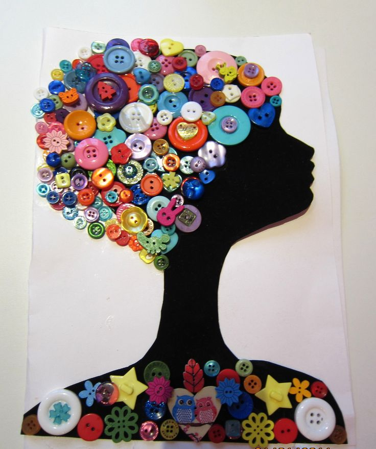 Button crafts Girl - pugovichkino.ru