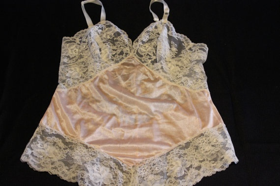 Vintage Pin Up Lingerie  Nylon and Lace  by LuLusVintageMart, $50.00