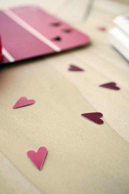 Valentine's Day Paint Chip Art | Storypiece.net