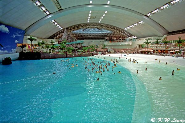 Seagaia Ocean Dome  Miyazaki, Japan  This extraordinary facility boasts the world's largest indoor water park. It's 300 meters deep and 100 meters wide