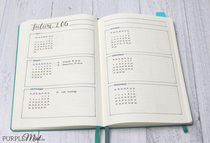 Bullet Journal - auf der Suche nach meinem System #octoberbulletjournal Bullet Journal - Future Log