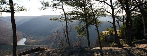 Indian Fort Mountain Trail in Berea College's private forest. Open during daylight hours.
