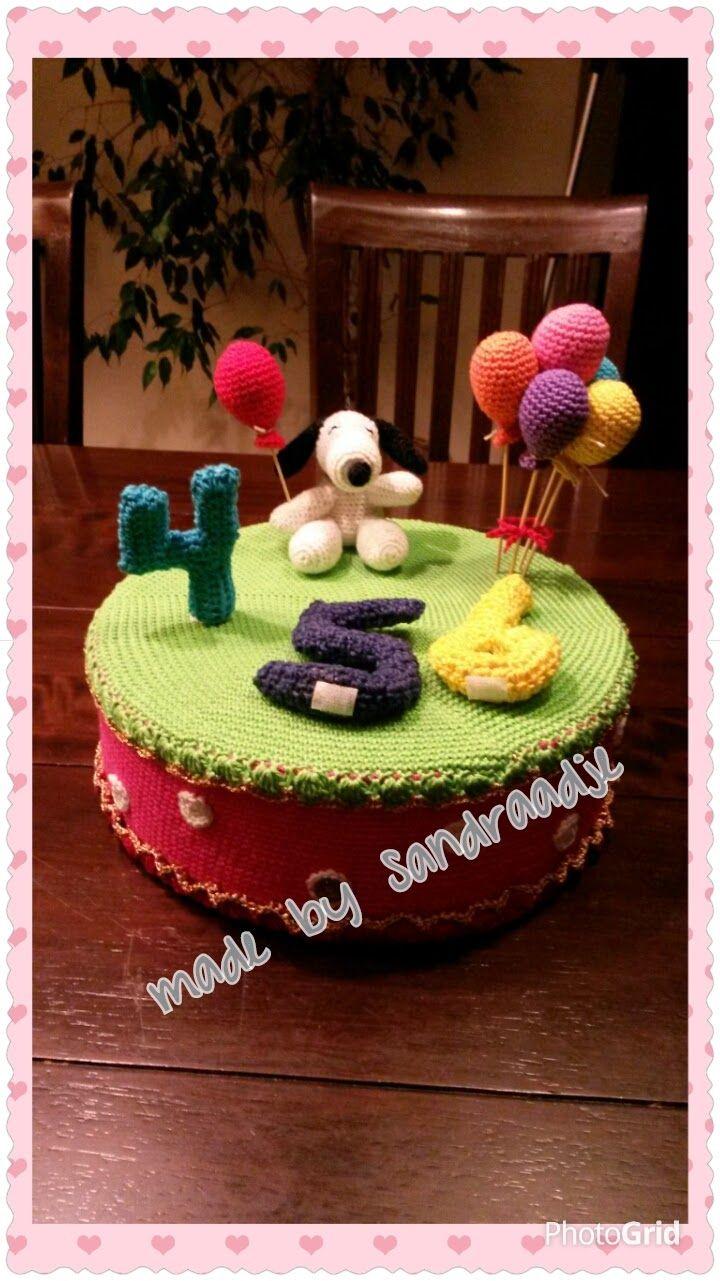 De wereld van een Draadje...Snoopy taart voor de Snoopy groep