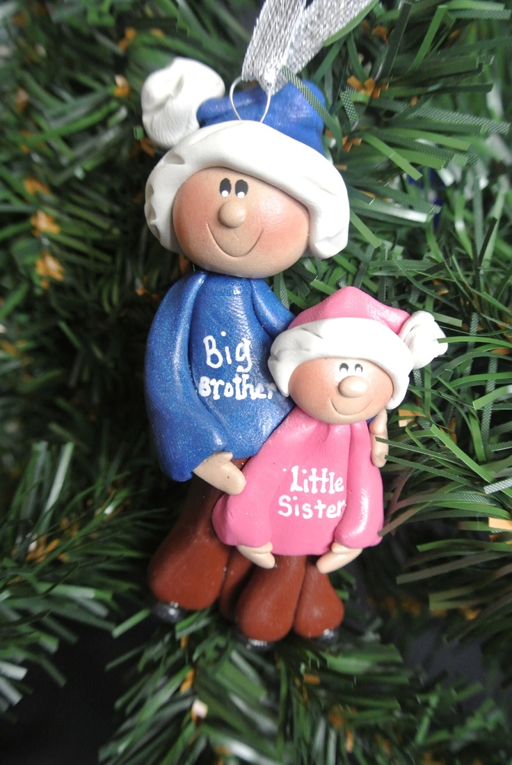 Beautiful Big Brother Christmas Ornament Part - 3: Personalized Big Brother Big Sister Little Brother Little Sister Christmas  Ornament.. $12.00, Via