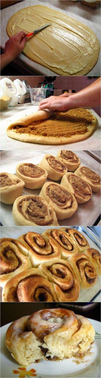 Oh, my!!! Yum!!! Easy Cinnamon Rolls