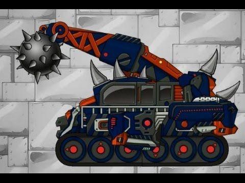 Динозавр - Робот - Разрушитель игра для детей_Мультики про роботов и маш...