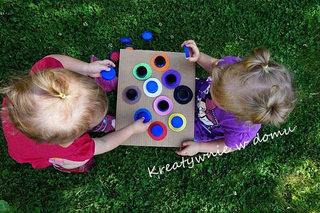 Nauka kolorów z 2latkiem | Kreatywnie w domu