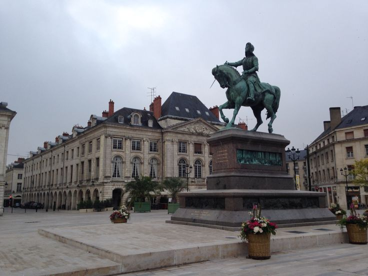 Old Town of Orleans, France. The Good Morning to Jeanne d'Arc.