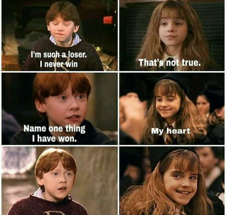 Ron And Hermione Harry Potter Puns Harry Potter Spells Harry Potter Jokes