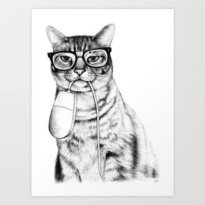 Buy Mac Cat by Florever as a high quality Art Print. Worldwide shipping available at Society6.com. Just one of millions of products available.
