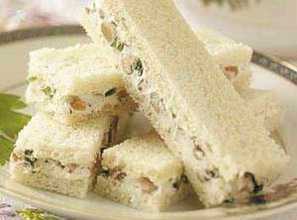 Walnut-cream Cheese Finger Sandwiches Recipe