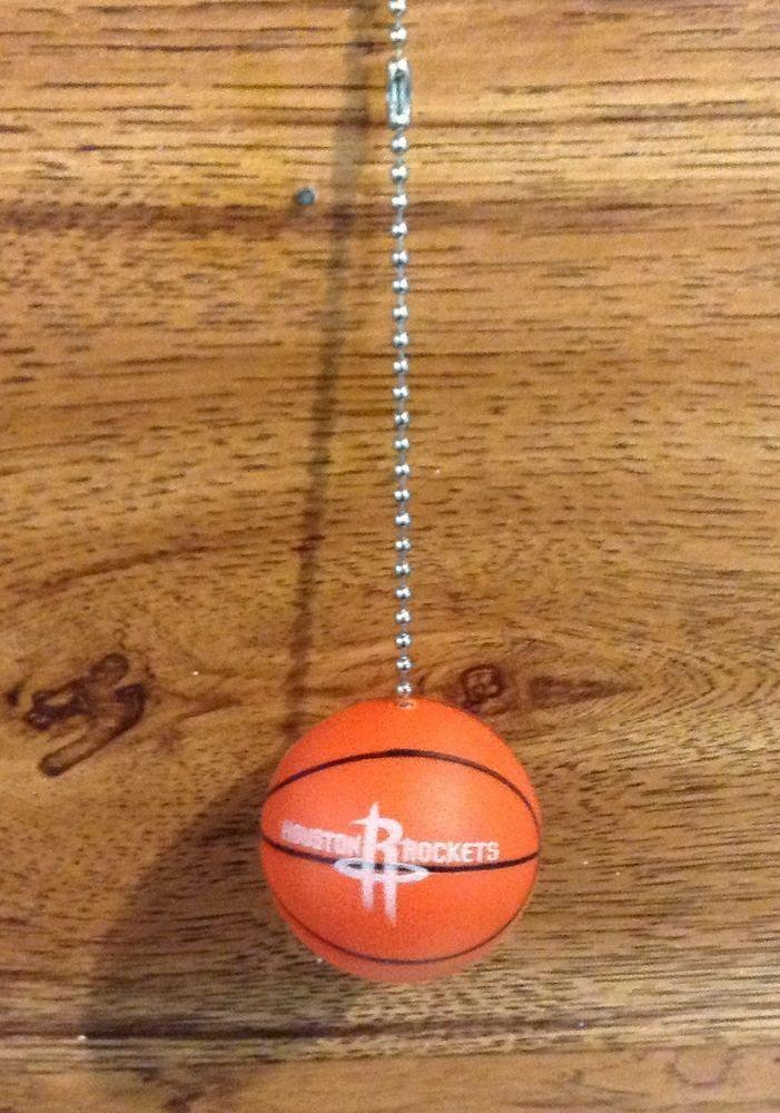 Houston Rockets Handmade Plastic Basketball Ceiling Fan/Light And Pull  Chain. #HoustonRockets