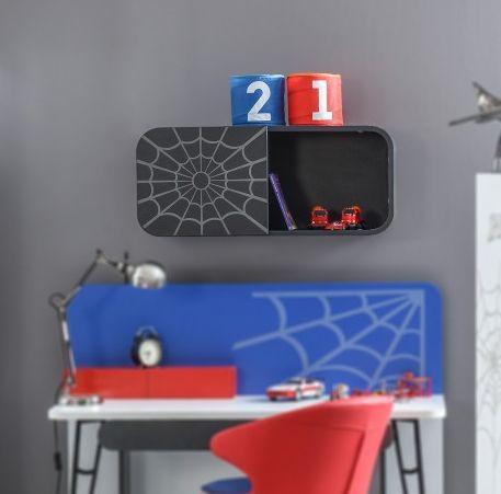 #Speelgoed #opbergen wordt leuk met deze toffe #Spiderman #wandkast!