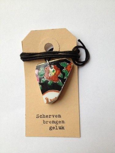 """Scherven brengen Geluk"". Inspire (Chards bring Happiness.. tag) creatief  leuk idee symbolisch"