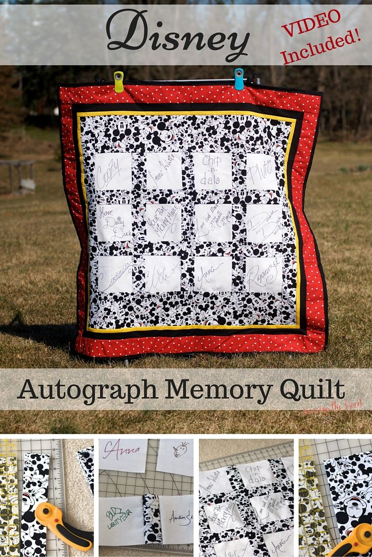 Instead of an autograph book I decided to try something different on our last trip to Walt Disney World and make an Autograph Memory Quilt! We have done autograph books in the years past but I have found from experience that the books just sit on the shelf. I wanted something that was different and …