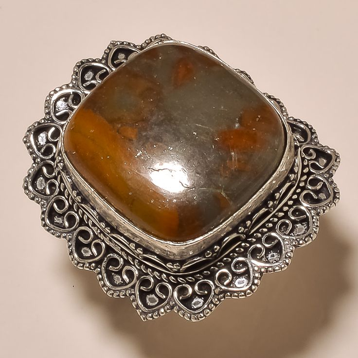 MOOKAITE GEMSTONE .925 STERLING SILVER RING +FREE GIFT