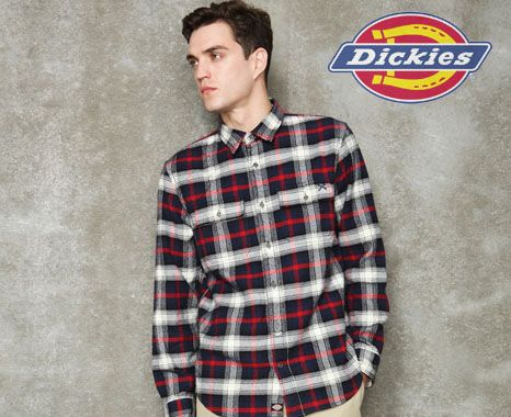 Dickies is a reputable name in top-quality workwear and casual apparel for the whole family. Enjoy free shipping on $50 purchases of must-have items such as long-sleeve flannel shirts, performance pants and tapered pants as well.