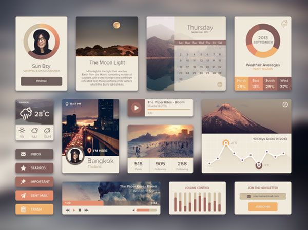 Flat Web Design Tutorials and UI Kits – Just Do It!