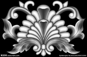 欧式浮雕线灰度图_好搜图片
