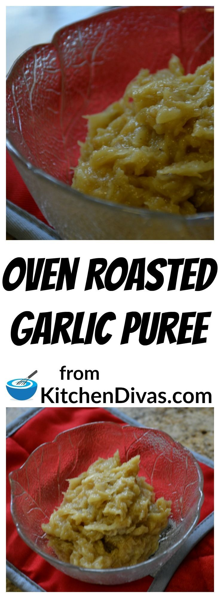 We are big garlic lovers here and we always have some Oven Roasted Garlic Puree in the fridge ready to go.  We use it in mashed potatoes, mixed with sour cream as a topping for baked potatoes, added to sauces, dressings or even when roasting vegetables.  The possibilities are endless.  Oven Roasted Garlic flavours dishes with a milder sweeter garlic flavour.  Totally awesome.  You have to give it a try.