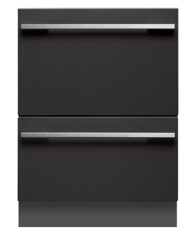 DD60DI7 - Integrated Double DishDrawer™.   Designed to fit existing kitchen cabinetry, the DishDrawer™ Double dishwasher has comparable dimensions to those of traditional dishwashers but provides the benefit of two independent drawers for added convenience and ergonomics.