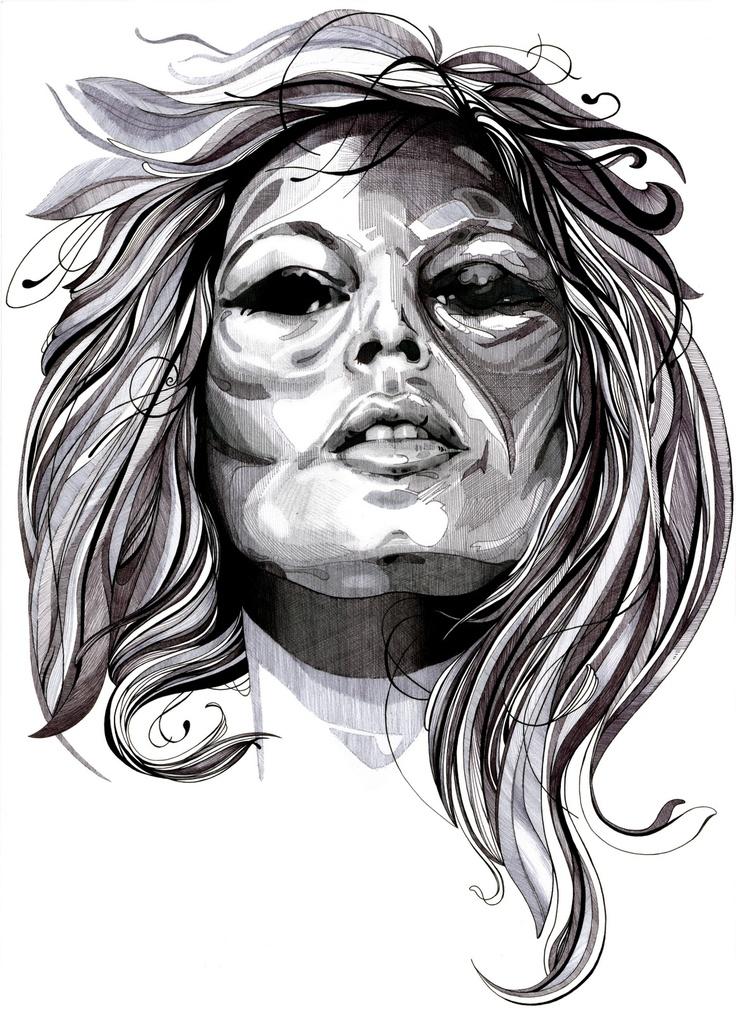 Brigitte Bardot ,felt pens / Brigitte Bardot , cienkopisy