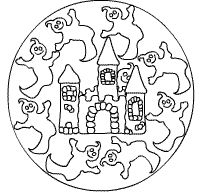Gespenster in der Burg-Mandala