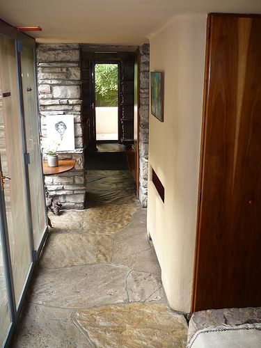 85 best images about fallingwater on pinterest terrace for Frank lloyd wright flooring