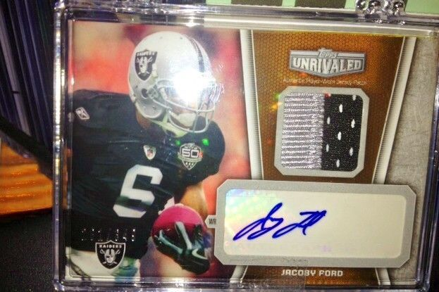 JACOBY FORD #UAP-JF  2010 Topps Unrivaled Patch Autograph Auto RC # 281/349 RARE
