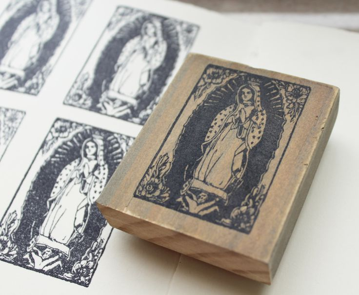 lady guadalupe rubber stamp / our lady of guadalupe / virgin guadalupe artwork / mother mary gifts by michellefarro on Etsy https://www.etsy.com/listing/468359282/lady-guadalupe-rubber-stamp-our-lady-of