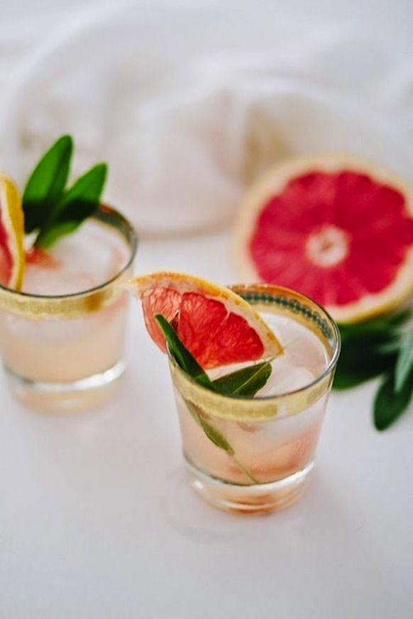 A #Mimosa Made With Great #Fruit and #Sage: Morning, #mimosas! Celebrate your #bridal #brunch with a some fruity flavor in hand. Visit my #BrideIdeas at prestonbailey.com to read more about this #drink option.