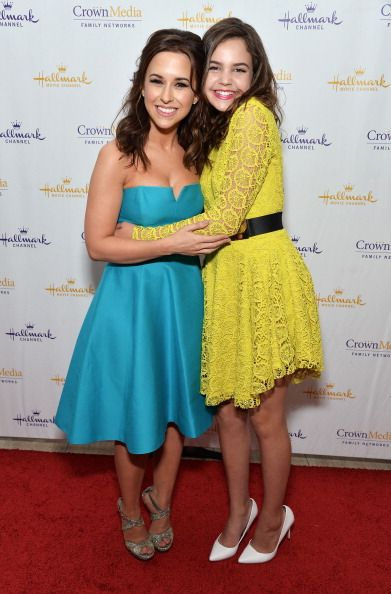 Lacey Chabert and Bailee Madison arrive at 'The Color Of Rain' premiere screening presented by the Hallmark Movie Channel at The Paley Center for Media on May 28, 2014 in Beverly Hills, California