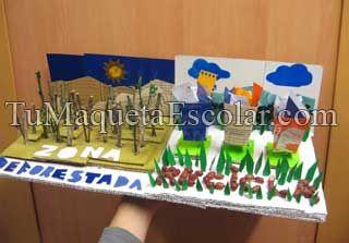 Maquetas escolares manualidades y trabajos en lima - Manualidades de papel reciclado ...
