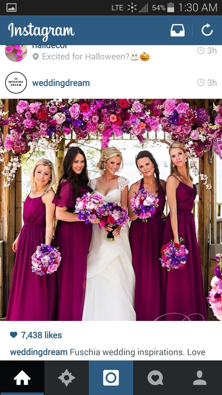 Pin by zury genao on wedding decoration pinterest for Magenta dress for wedding