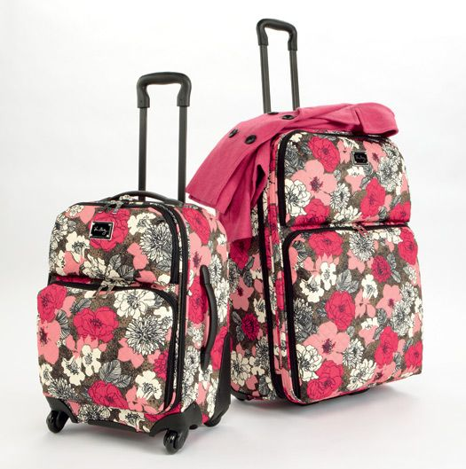 Rolling Luggage in Mocha Rouge