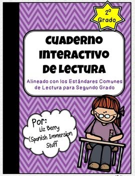 This product includes interactive notebook activities in Spanish for all of the 2nd grade Common Core reading comprehension standards, both literature and informative texts.While it is aligned specifically with the 2nd grade standards, it could be adapted and used in other lower elementary Spanish reading classrooms as well.The interactive activities included in this product are related to the following skills:Literature:Questions - PreguntasRetelling stories  Recontar cuentosMessage…
