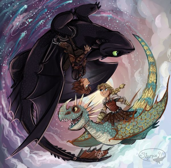 HTTYD 2 Night and Day by sharpie91
