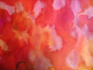 Ecoline of plakaatverf op papier en dan met verdund chloor bewerken. Onverdund chloor geeft meer heldere vlekken.  Soms vervaagt de kleur en sommige kleuren veranderen.