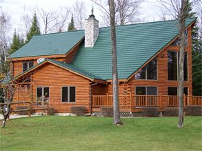 Best House With Green Metal Roof Rustic Shingle Color Forest 400 x 300