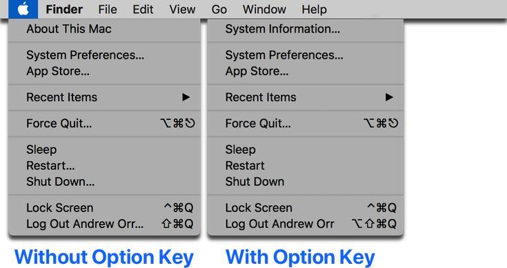 macOS: Some Useful Mac Menu Bar Shortcuts You Can Do With the Option Key