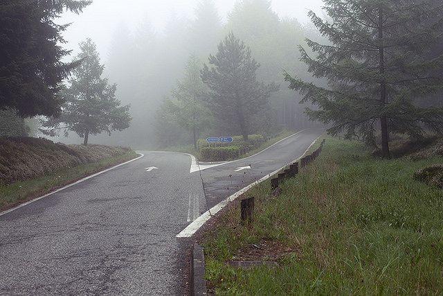 autoroute et brouillard