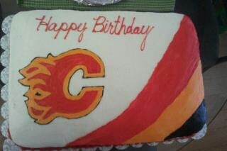 Calgary Flames birthday cake