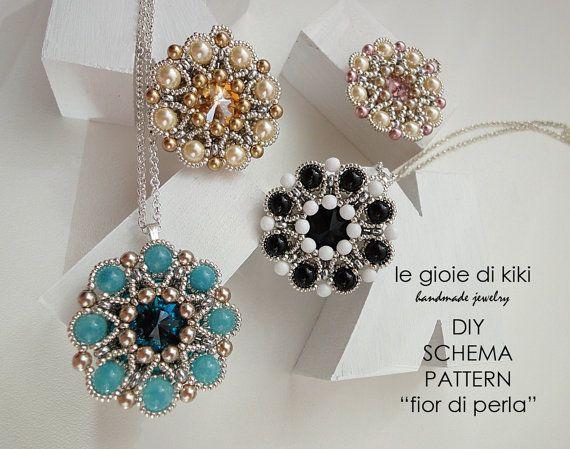 DIY schema pendente Fior di Perla by Legioiedikiki on Etsy