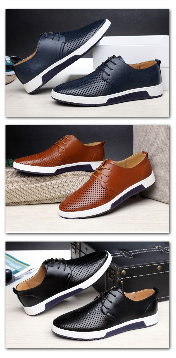 c01a6f444c casual summer breathable shoes - men s shoes leather classy  menshoes